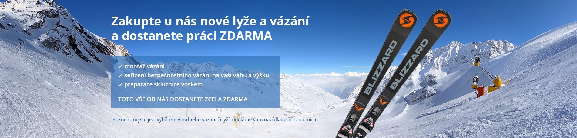 Zakupte u nás nové lyže a vázání a dostanete práci ZDARMA