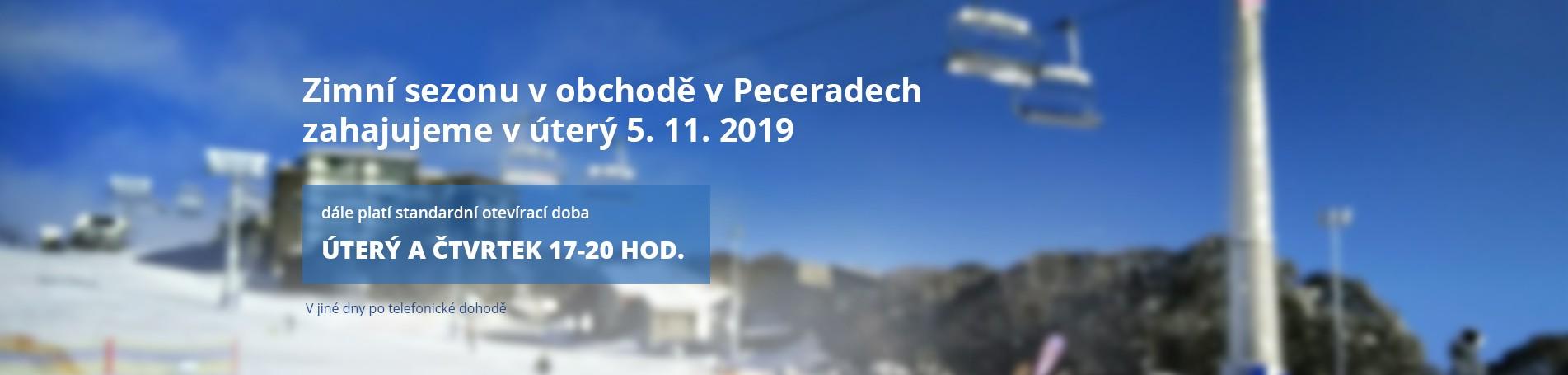 Zimní sezonu v obchodě v Peceradech zahajujeme v úterý 5. 11. 2019