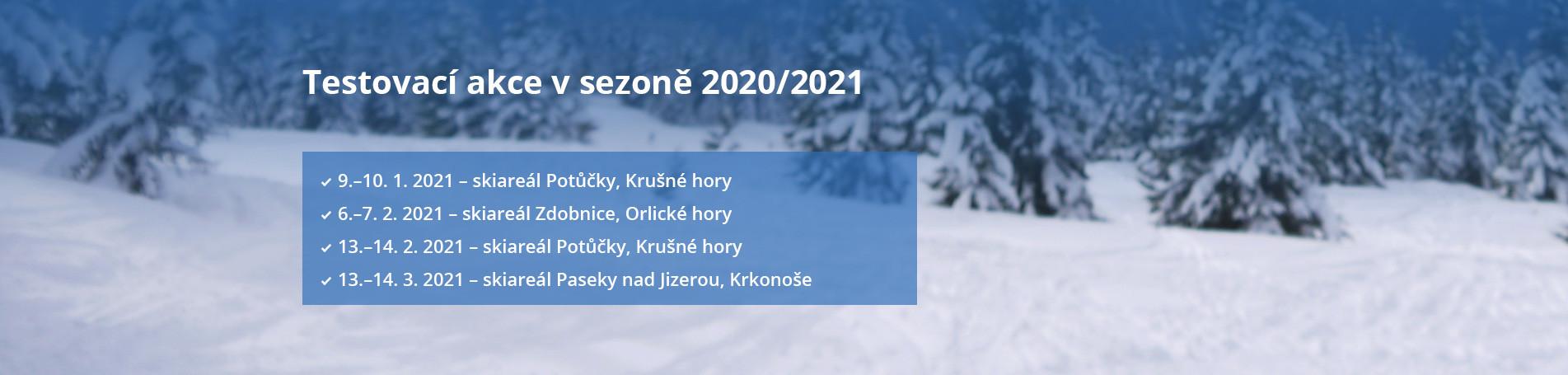 Testovací akce v sezoně 2020/2021