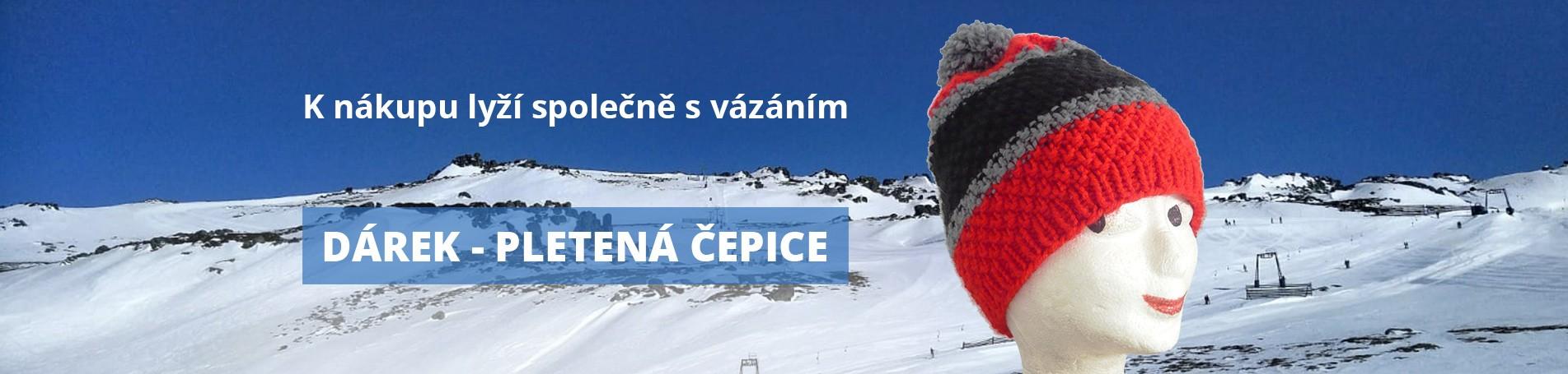 K nákupu lyží společně s vázáním dárek - pletená čepice