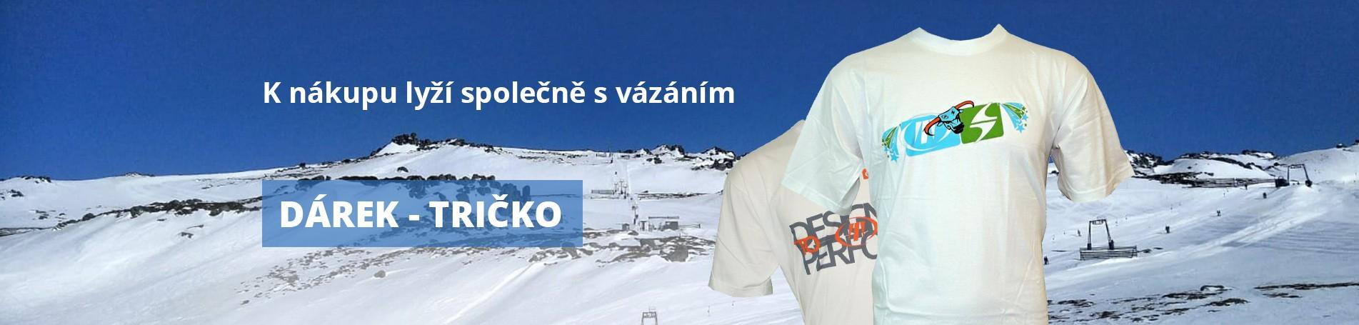 K nákupu lyží společně s vázáním dárek - tričko
